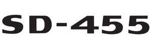 """LeMans Hood Scoop Decal, 1973 """"SD-455"""" Black"""