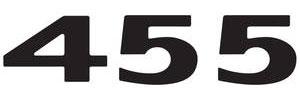 "GTO Hood Scoop Decal, 1973 ""455"" Black, by RESTOPARTS"