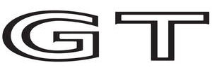 """1973-1974 LeMans Deck Lid Decal, 1973-74 LeMans """"GT"""" Black"""