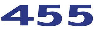 """LeMans Hood Scoop Decal, 1973 """"455"""" Dark Blue"""