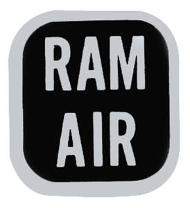 1969-70 GTO Ram Air Knob Decal (#6486684)
