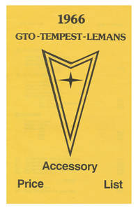 1966 LeMans Accessory Price List