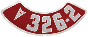 1964-1973 GTO Air Cleaner Decal 326-2V