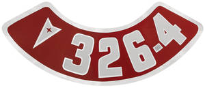 1961-73 LeMans Air Cleaner Decal 326-4V