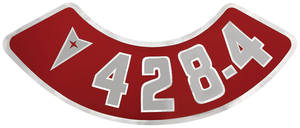 1961-73 GTO Air Cleaner Decal 428-4V