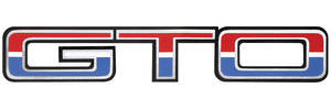"Body Decal, 1974 ""GTO"" Red, White & Blue"