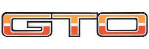 """1974-1974 GTO Body Decal, 1974 """"GTO"""" Light/Dark Orange & White"""