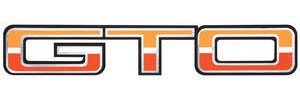 "Body Decal, 1974 ""GTO"" Light/Dark Orange & White"