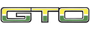 "1974-1974 GTO Body Decal, 1974 ""GTO"" Light/Dark Green & White"