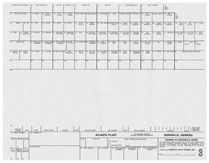 1966-69 Cadillac Factory Assembly Line Build Sheet