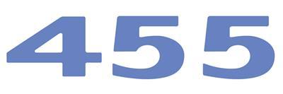 """LeMans Hood Scoop Decal, 1973 """"455"""" Light Blue"""