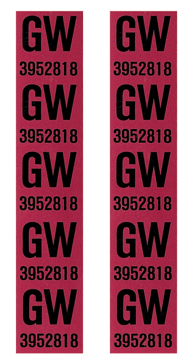Photo of Coil Spring Tag Front std. (GW)