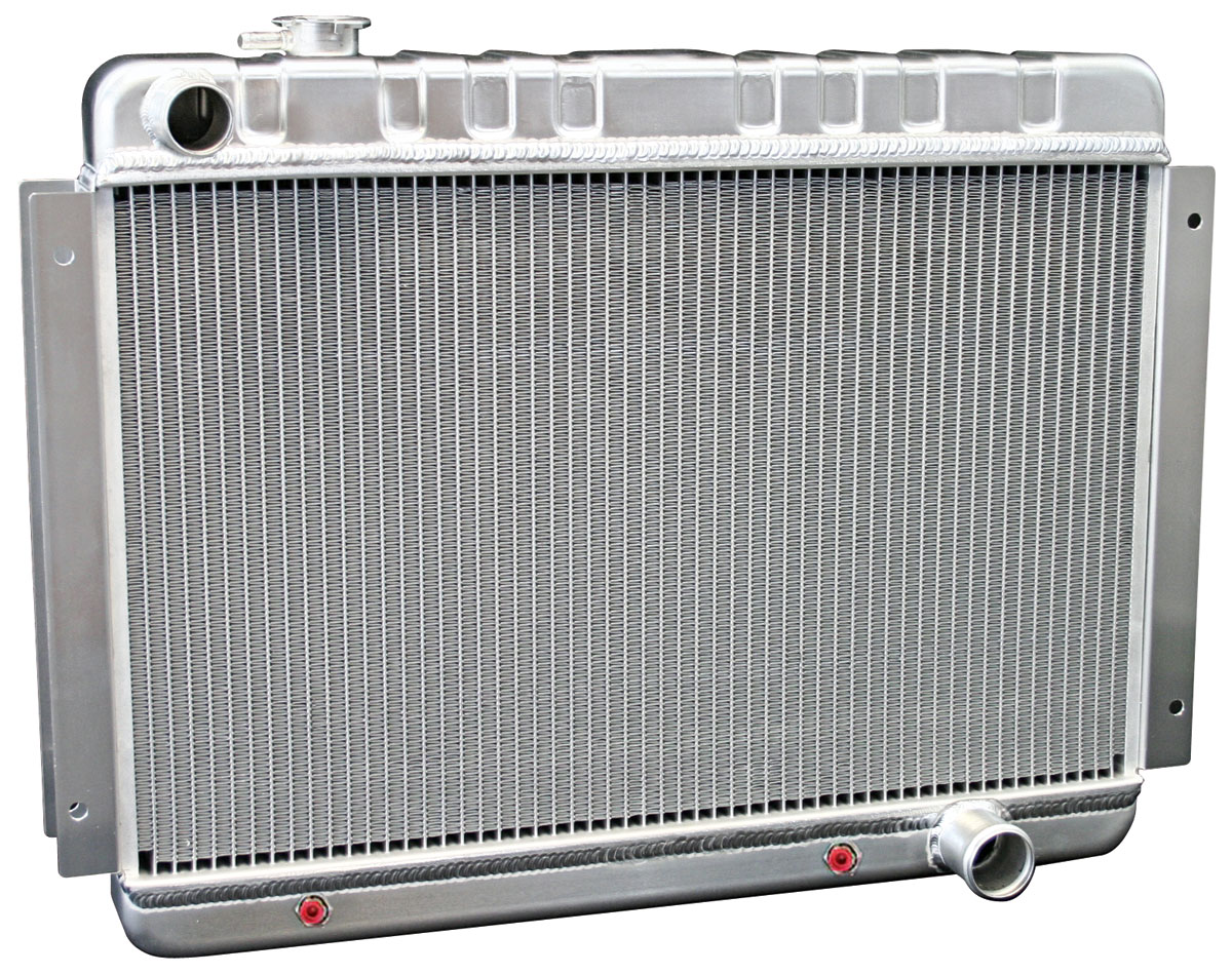 Photo of Radiators, Aluminum, DeWitts At Small Block/BB, (driver inlet/pass. outlet)
