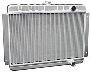 1964-1965 El Camino Radiators & Fan Combos, Aluminum, DeWitts Mt Small Block, (Pass. Inlet/Outlet)