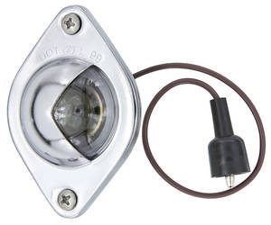 1964-65 Chevelle License Light Assembly, Complete Rear (Requires 2)
