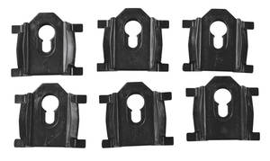 1978-87 Roof Molding Clips, Rear (El Camino) 6-Piece, by RESTOPARTS