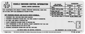 1972 El Camino Radiator Support Decal 350 – 2V (LG, #6271005)