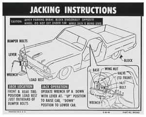 1964-1966 El Camino Jacking Instruction Decal El Camino (#3841916)