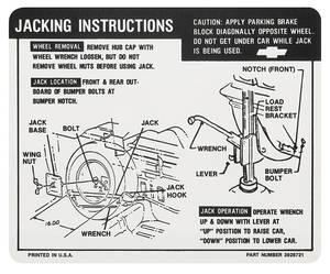 1968-1969 El Camino Jacking Instruction Decal El Camino (#3926721)