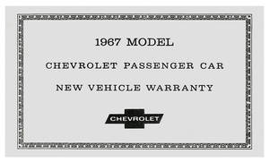 1967-1967 El Camino New Car Warranty Certificate