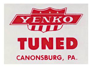 "1964-77 Chevelle Yenko Decal ""Tuned"" Window"