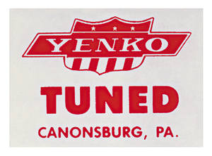 "1964-77 Chevelle Yenko Decal ""Tuned"" Window"