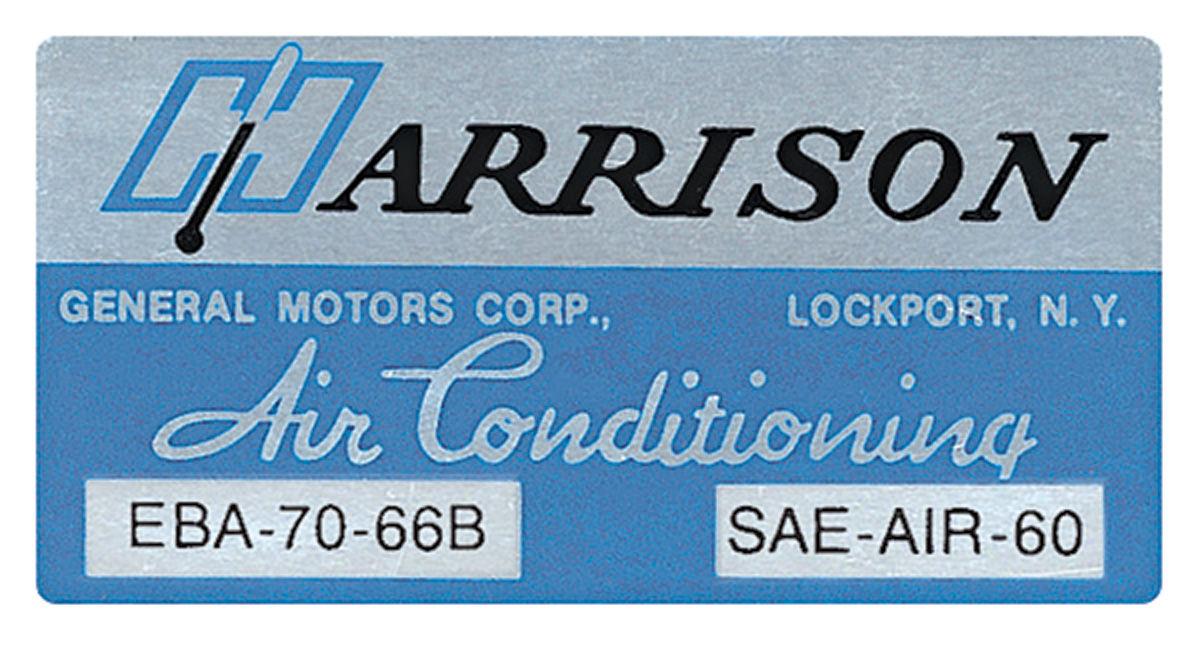 Photo of Air Conditioning Box Decal, Harrison EBA-70-66B