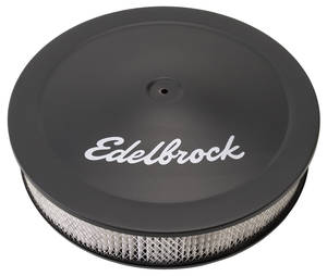 "1959-1976 Bonneville Air Cleaner, Pro-Flo Black 14"" X 3-3/4"", w/3/8"" Deeper Flange, by Edelbrock"
