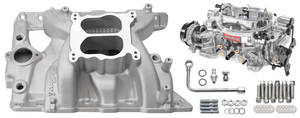1965-77 Bonneville Manifold & Carburetor Kit; Single Quad