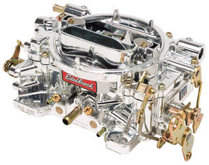 Carburetor, 600 CFM Square-Bore, Manual w/EnduraShine Finish (Non-EGR), by Edelbrock