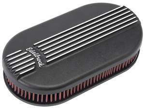 1959-1976 Bonneville Air Cleaner Assembly, Classic Series Oval, 4-Bbl Black, by Edelbrock