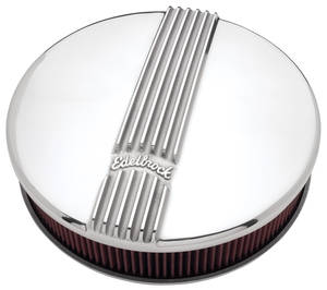 1964-1973 GTO Air Cleaner Assembly, Classic Series Round, 4-Bbl Polished, by Edelbrock