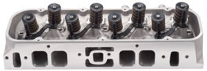 1978-88 Malibu Cylinder Head, E-Series Aluminum Small-Block Straight Plugs (70cc) (185cc Intake), by Edelbrock