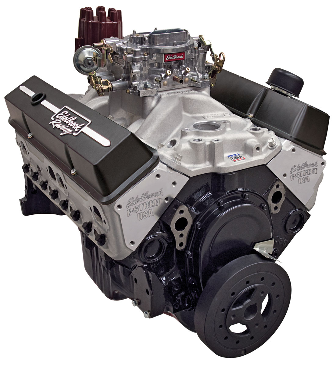 Photo of Crate Engine, Edelbrock E-Street 315 HP, Carbureted satin