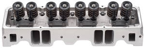 1964-77 Chevelle Cylinder Head, E-Series Aluminum Small-Block, Straight Plug (64cc) E-210