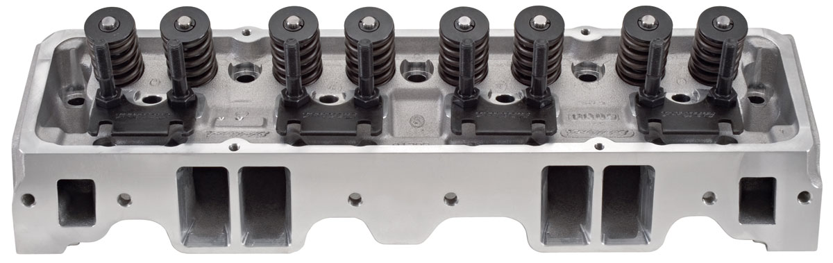 Photo of Cylinder Head, E-Series Aluminum Small-Block straight plugs (64cc) (185cc intake)