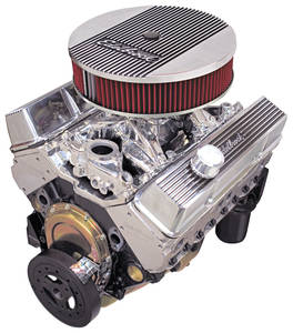 1978-88 El Camino Crate Engine, Performer RPM E-Tec, Edelbrock Short Water Pump Polished