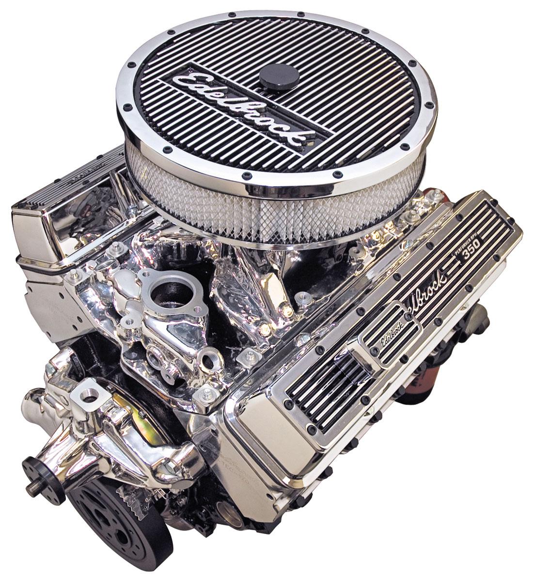 Photo of Crate Engine, Performer RPM E-Tec, Edelbrock Short Water Pump EnduraShine