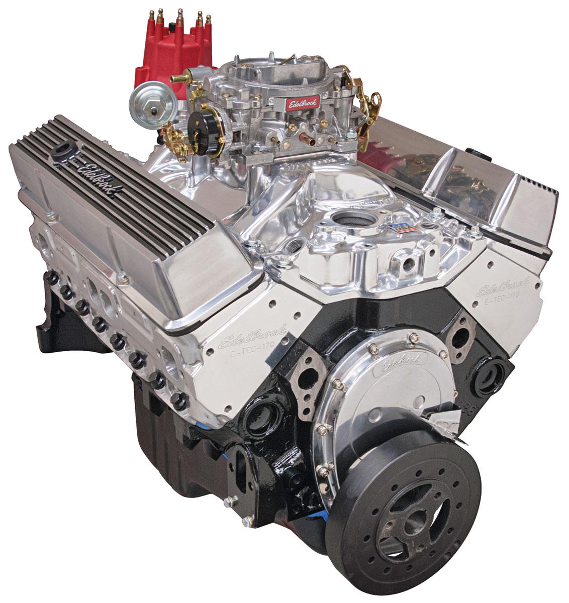 Photo of Crate Engine, Performer Hi-Torq, Edelbrock W/O Water Pump polished