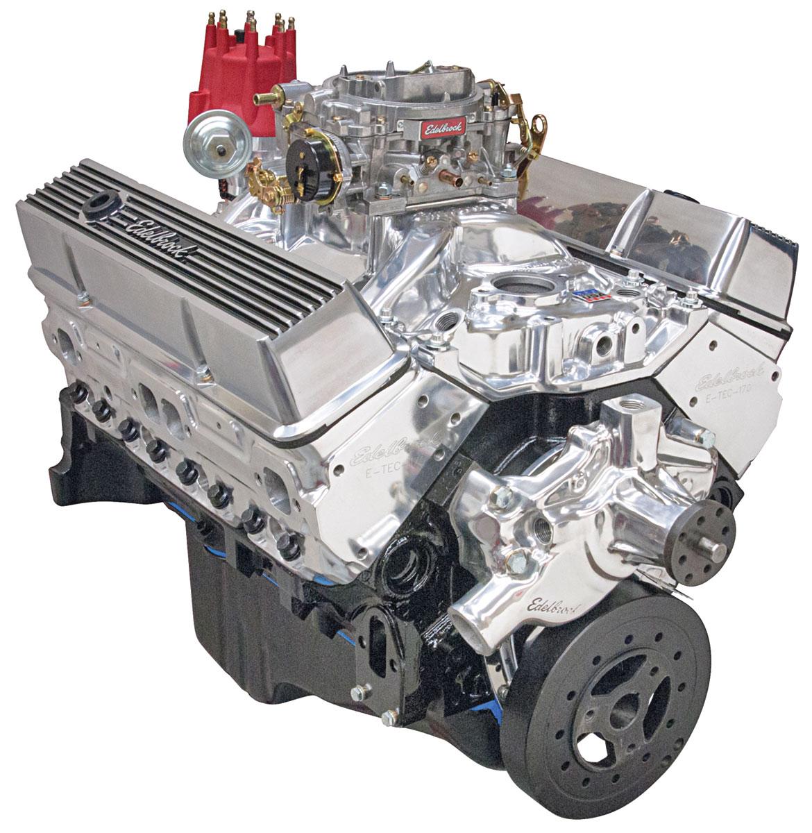 Photo of Crate Engine, Performer Hi-Torq, Edelbrock Short Water Pump polished