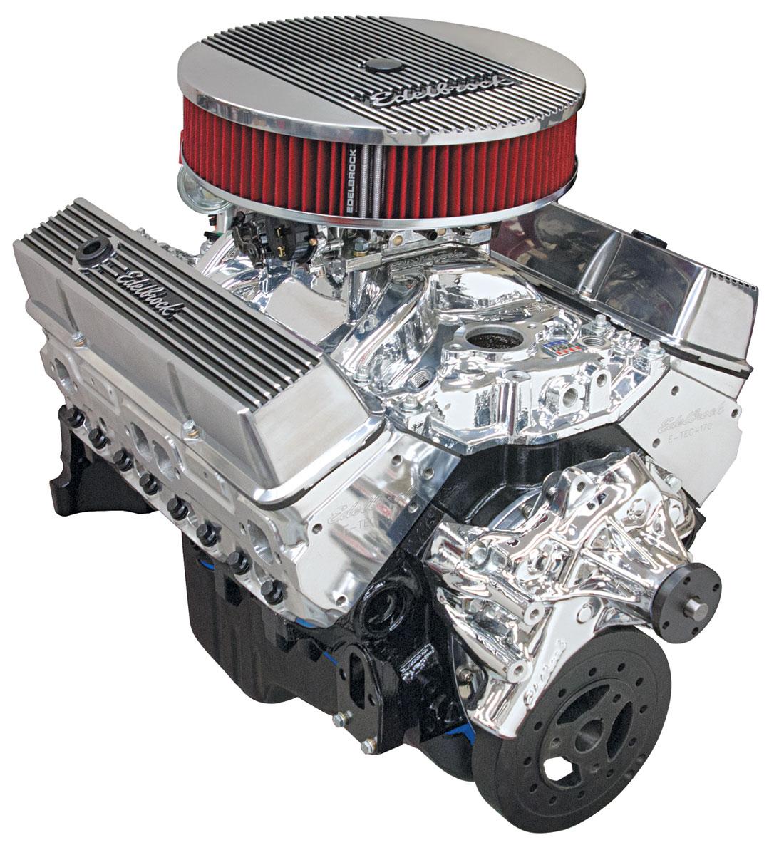 Photo of Crate Engine, Performer Hi-Torq, Edelbrock Long Water Pump EnduraShine
