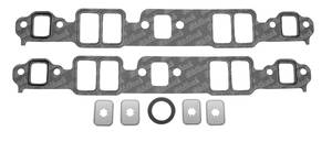 1964-77 Chevelle Intake Manifold Gaskets, High-Performance Small-Block 1.28x2.09x0.060, by Edelbrock