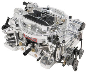 Carburetor, Thunder Series AVS Manual Choke 650 CFM, w/EnduraShine, by Edelbrock