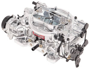 Carburetor, Thunder Series AVS 650 Cfm Square-Bore, Electric w/EnduraShine (Non-EGR), by Edelbrock