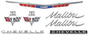1967-1967 Chevelle Nameplate Kit, 1967 Chevelle Malibu 283 Malibu