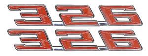 "Fender Emblem, 1967 LeMans ""326"""