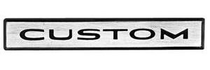 "1967-1968 Tempest Fender Emblem, 1967-68 Tempest ""CUSTOM"""