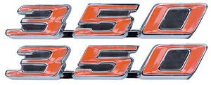 "Tempest Rocker Panel Emblem, 1968-72 ""350"""