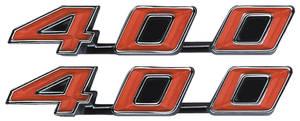 "1970-1971 Tempest Rocker Panel Emblem, 1970-72 ""400"""