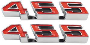 "GTO Rocker Panel Emblem, 1970-72 ""455"""
